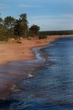 Praia das areias do canto fotos de stock