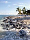 Praia das Caraíbas da rocha Fotos de Stock Royalty Free