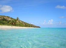 Praia das caraíbas de Porto Rico fotografia de stock
