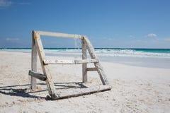 Praia das caraíbas México de Tulum Fotografia de Stock Royalty Free