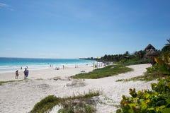 Praia das caraíbas México de Tulum Imagens de Stock