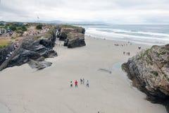 Praia das catedrais Foto de Stock Royalty Free