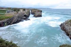 Praia das catedrais Foto de Stock