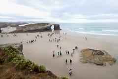 Praia das catedrais Fotos de Stock