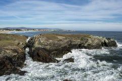 Praia das catedrais na maré alta Imagens de Stock