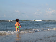 Praia das crianças Fotografia de Stock Royalty Free