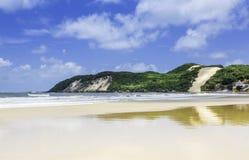 Praia das dunas de Ponta Negra na cidade natal, imagens de stock