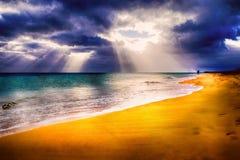 Praia das Ilhas Canárias Imagens de Stock Royalty Free