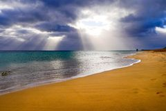 Praia das Ilhas Canárias Fotografia de Stock Royalty Free