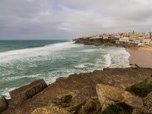 Praia DAS Macas στην Πορτογαλία Στοκ εικόνες με δικαίωμα ελεύθερης χρήσης