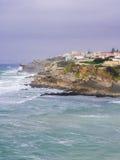 Praia das Macas i Portugal Arkivbild