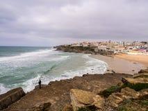 Praia das Macas i Portugal Royaltyfri Bild