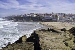 Praia das Macas Sintra Portogallo Fotografie Stock Libere da Diritti