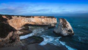 Praia Davenport Californai da aleta do tubarão Fotos de Stock