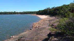 Praia de água doce fotografia de stock royalty free