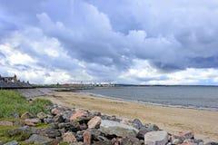 A praia de Aberdeen em Escócia, Reino Unido Imagens de Stock