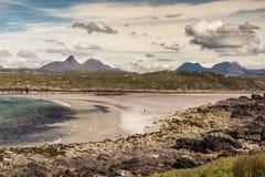 Praia de Achnahaird de Oceano Atlântico, Escócia Imagens de Stock Royalty Free