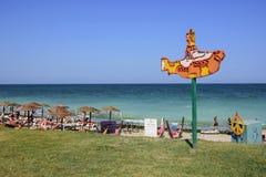 Praia de Acolo em Vama Veche, Romênia imagens de stock royalty free