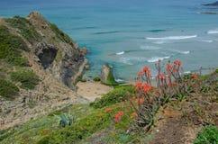 Praia de Adegas do Praia perto de Carrapateira, Portugal Fotos de Stock