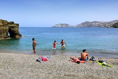 Praia de Agia Pelagia Imagem de Stock Royalty Free