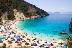 Praia de Agiofili fotografia de stock