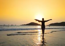 Praia de Agonda Goa sul, Índia imagens de stock