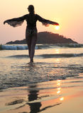 Praia de Agonda Goa sul, Índia foto de stock