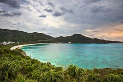 Praia de Aharen em Okinawa fotos de stock