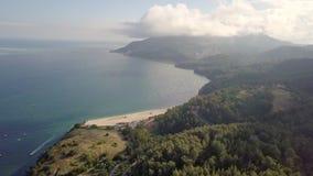 Praia de Albarquel,塞图巴尔,葡萄牙鸟瞰图  影视素材
