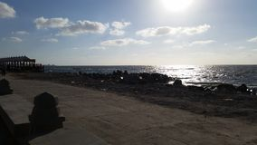 A praia de Alexandria Fotos de Stock Royalty Free