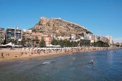 Praia de Alicante Imagem de Stock Royalty Free