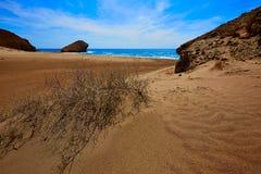 Praia de Almeria Playa del Monsul em Cabo de Gata Imagem de Stock