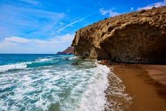 Praia de Almeria Playa del Monsul em Cabo de Gata Fotos de Stock Royalty Free