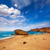 Praia de Almeria Playa del Monsul em Cabo de Gata Imagem de Stock Royalty Free