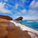 Praia de Almeria Playa del Monsul em Cabo de Gata Imagens de Stock Royalty Free