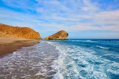 Praia de Almeria Playa del Monsul em Cabo de Gata Foto de Stock