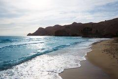 Praia de Almeria Playa del Monsul em Cabo de Gata Foto de Stock Royalty Free
