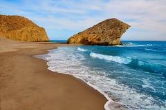 Praia de Almeria Playa del Monsul em Cabo de Gata Fotografia de Stock Royalty Free
