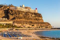 Praia de Amadores - Porto Rico, Gran Canaria, Espanha fotos de stock royalty free