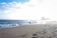 Praia de Amaralina fotografia de stock