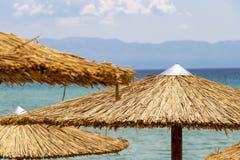 Praia de Ammolofoi, região de Kavala, Grécia do norte imagens de stock