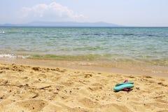Praia de Ammolofoi, região de Kavala, Grécia do norte imagem de stock