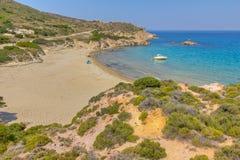 Praia de Ammoudaraki, Milos Fotos de Stock Royalty Free