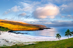 Praia de Anakena Fotografia de Stock Royalty Free