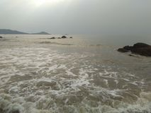 Praia de Ankola foto de stock royalty free