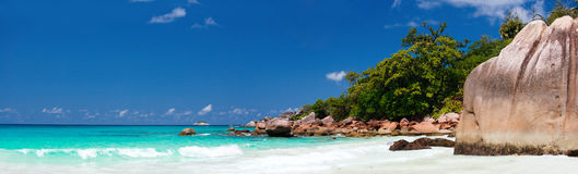 Praia de Anse Lazio em Seychelles foto de stock royalty free