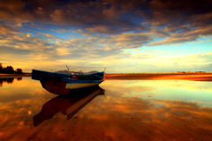 Praia de Anyir do ar da paisagem imagens de stock