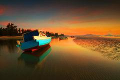 Praia de Anyir do ar do nascer do sol Fotos de Stock Royalty Free