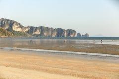 Praia de Aonang Imagem de Stock