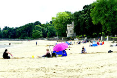 Praia de Appley fotos de stock